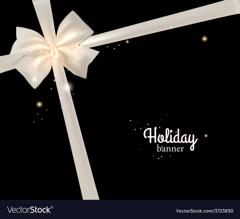 Elegant holiday banner with photorealistic white vector | Price: 1 Credit (USD $1)