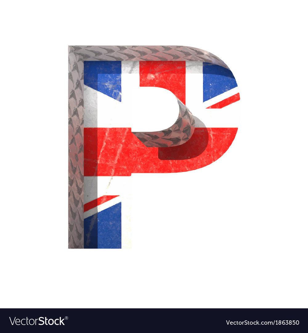 Great britain cutted figure p paste to any vector | Price: 1 Credit (USD $1)