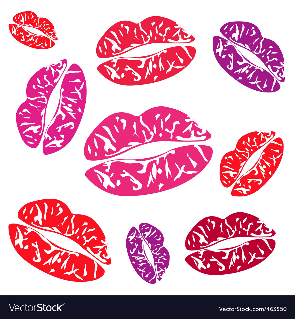 Imprint of the feminine lips vector | Price: 1 Credit (USD $1)