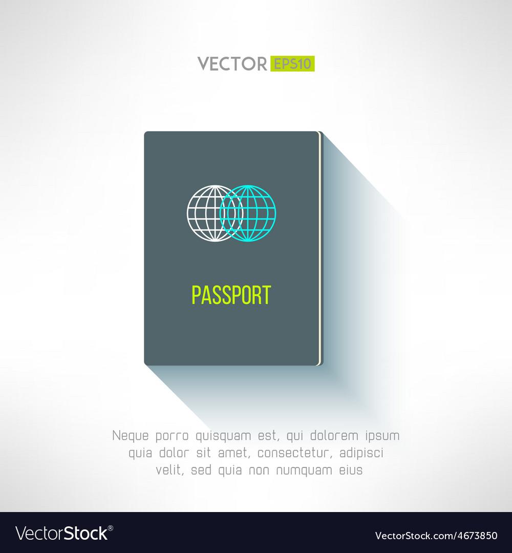 Passport in modern flat design citizen vector | Price: 1 Credit (USD $1)