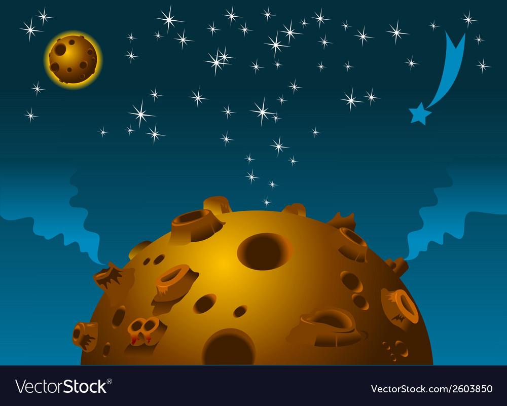 Space scene vector