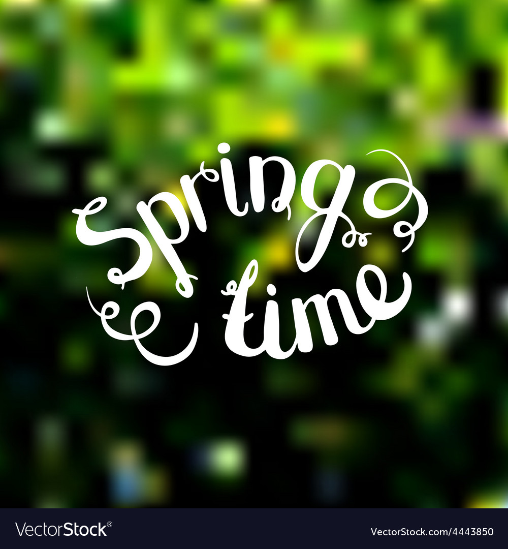Spring background photo overlay spring time on vector | Price: 1 Credit (USD $1)