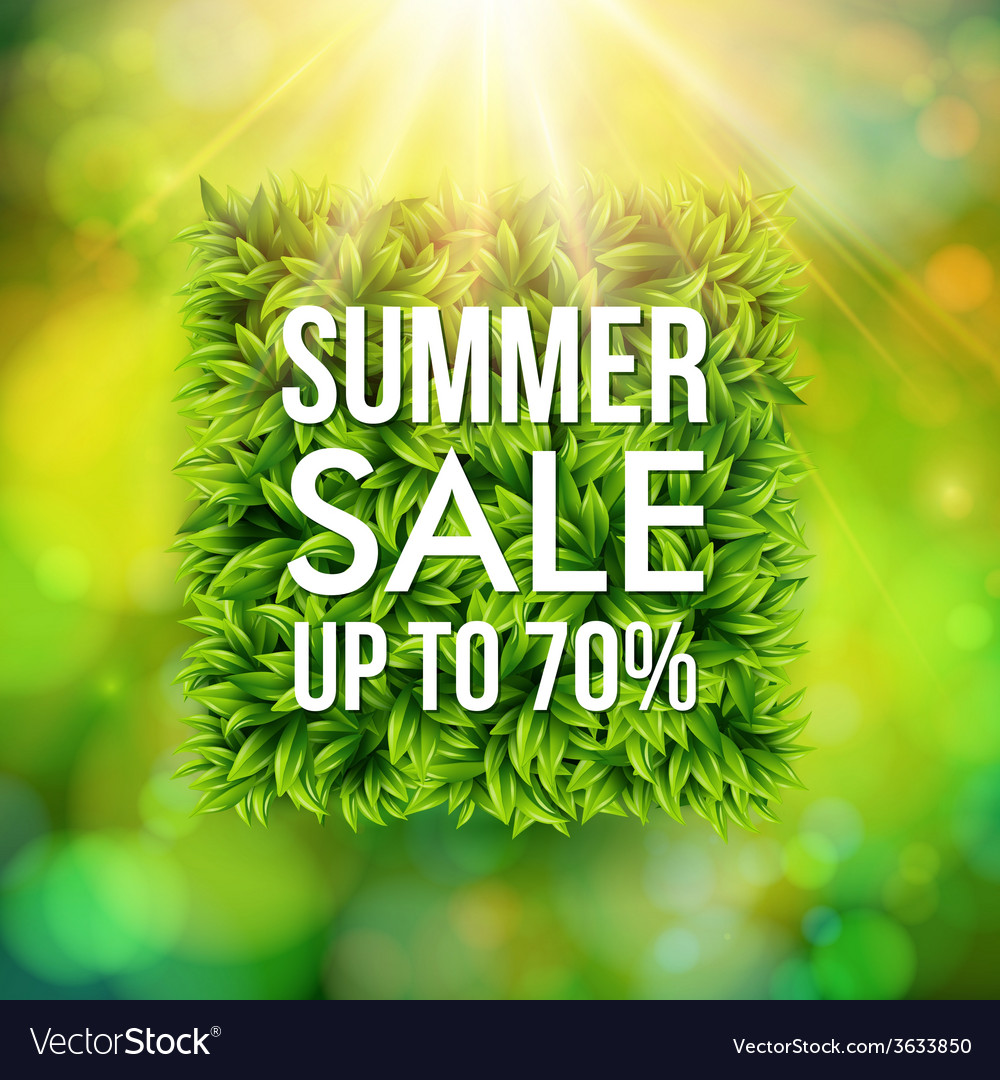 Summer sale advertisement poster blurred vector | Price: 1 Credit (USD $1)
