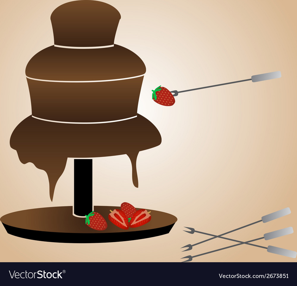 Chocolate fountain and strawberries eps10 vector | Price: 1 Credit (USD $1)