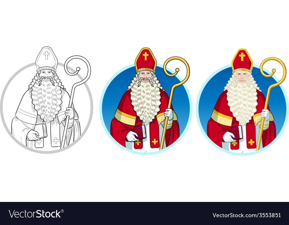 Christmas character sinterklaas set vector | Price: 1 Credit (USD $1)