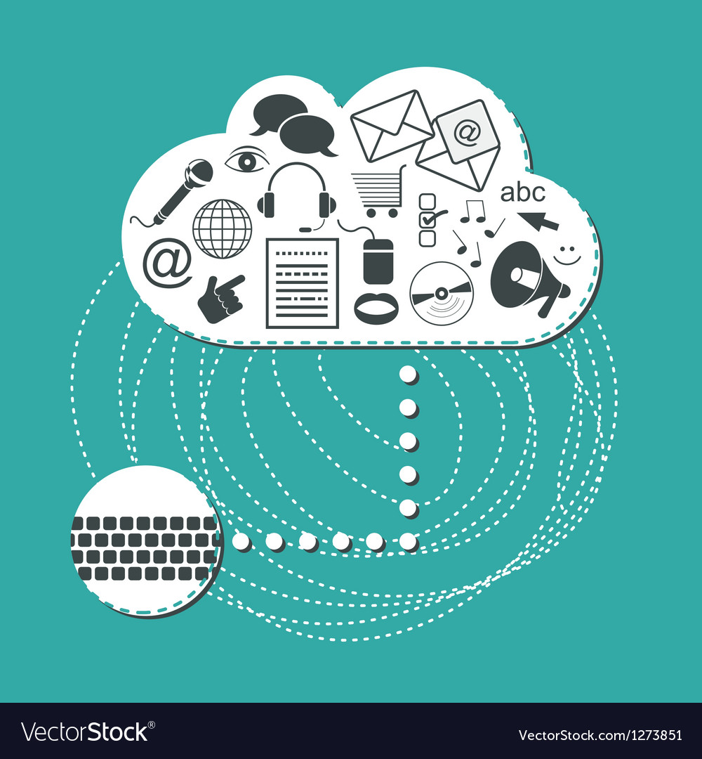 Cloud system user interface vector | Price: 1 Credit (USD $1)