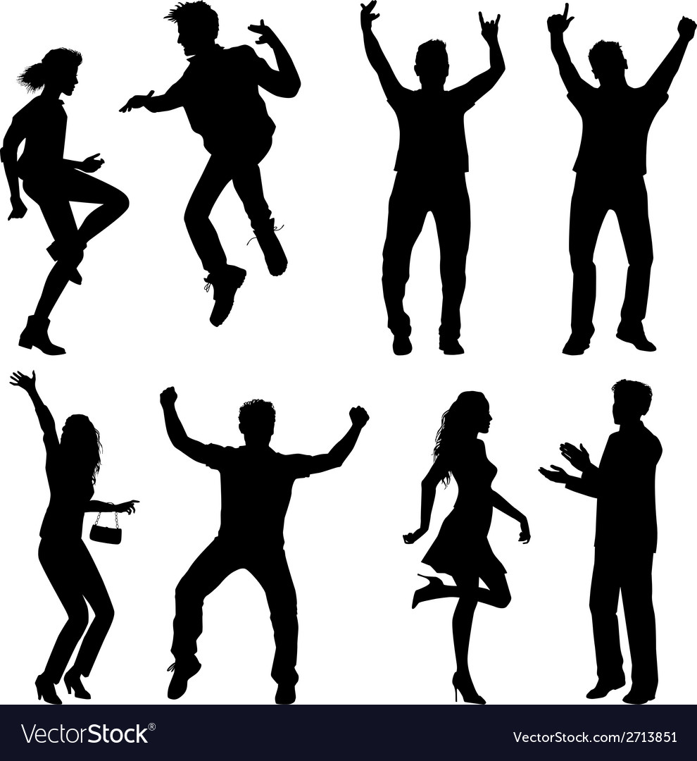 Dance and jumping vector | Price: 1 Credit (USD $1)