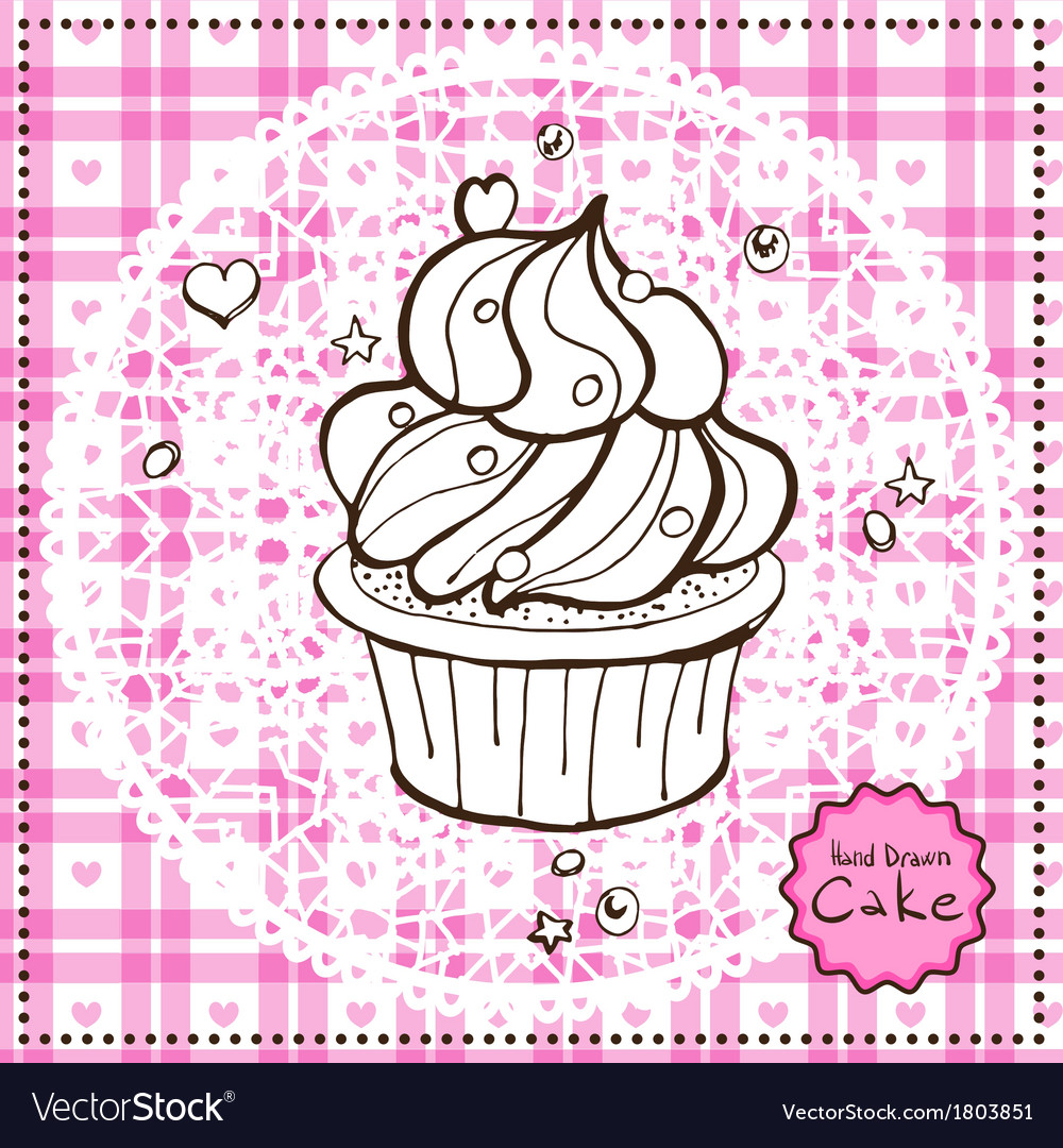 Hand drawn cake vector | Price: 1 Credit (USD $1)