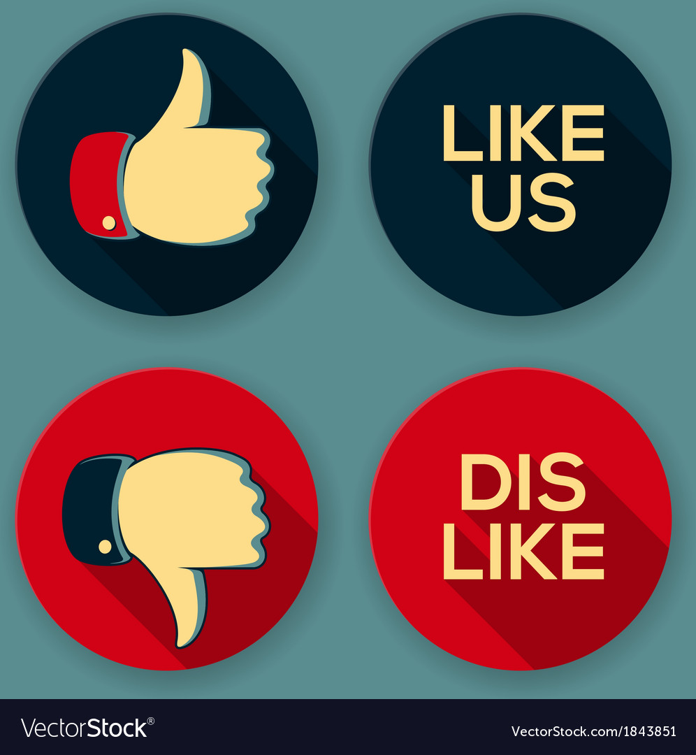 Like us and dislike symbols vector | Price: 1 Credit (USD $1)