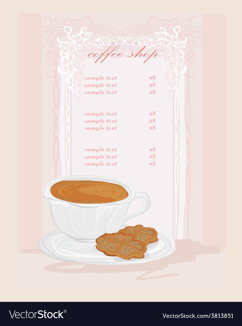 Menu coffee shop card vector | Price: 1 Credit (USD $1)