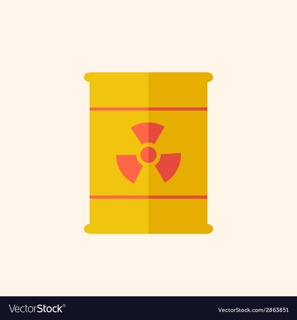 Nuclear flat icon vector | Price: 1 Credit (USD $1)