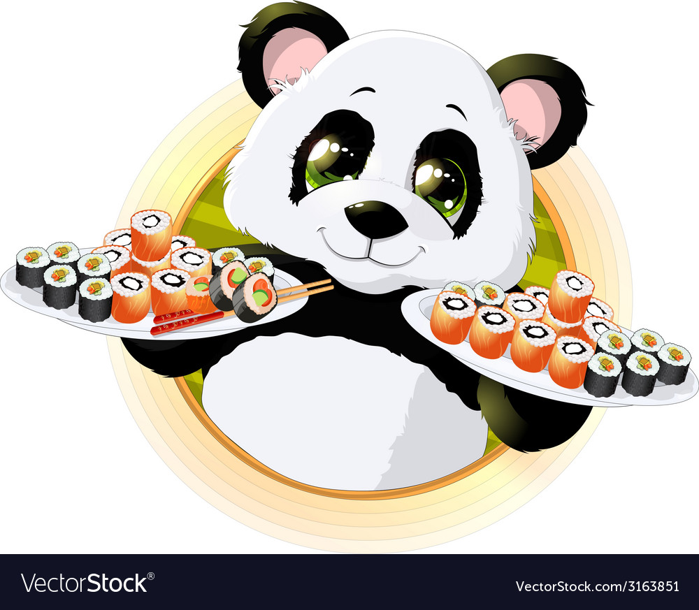 Panda sushi vector | Price: 1 Credit (USD $1)