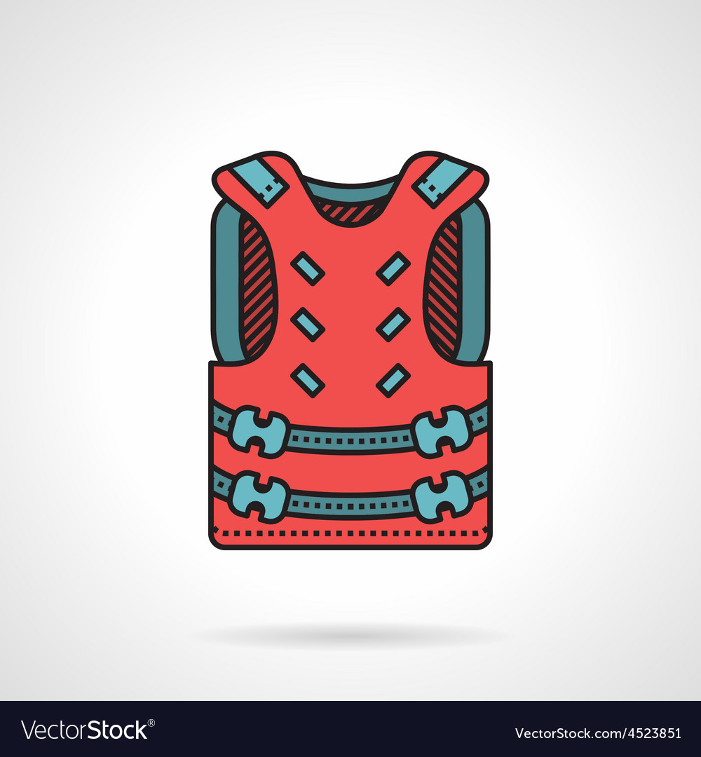 Pink paintball vest icon vector | Price: 1 Credit (USD $1)