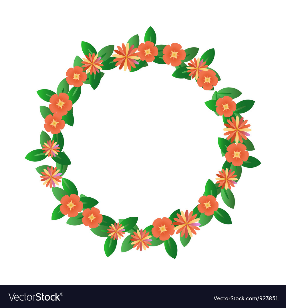 Red wreath vector | Price: 1 Credit (USD $1)