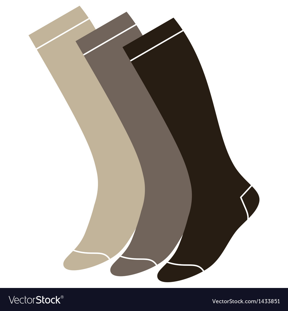 Set of long socks vector | Price: 1 Credit (USD $1)