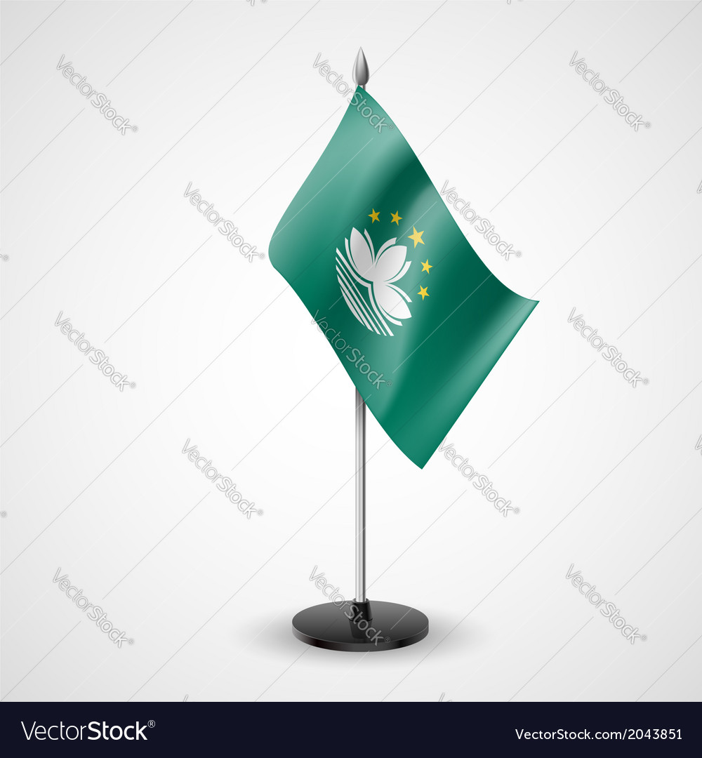 Table flag of macau vector | Price: 1 Credit (USD $1)
