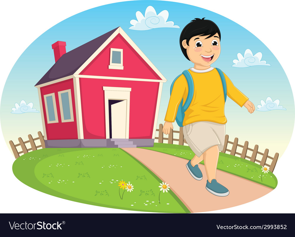 Boy leaving home vector | Price: 1 Credit (USD $1)