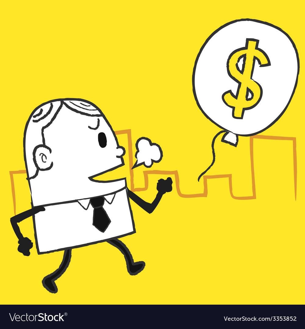 Business man dollar vector   Price: 1 Credit (USD $1)