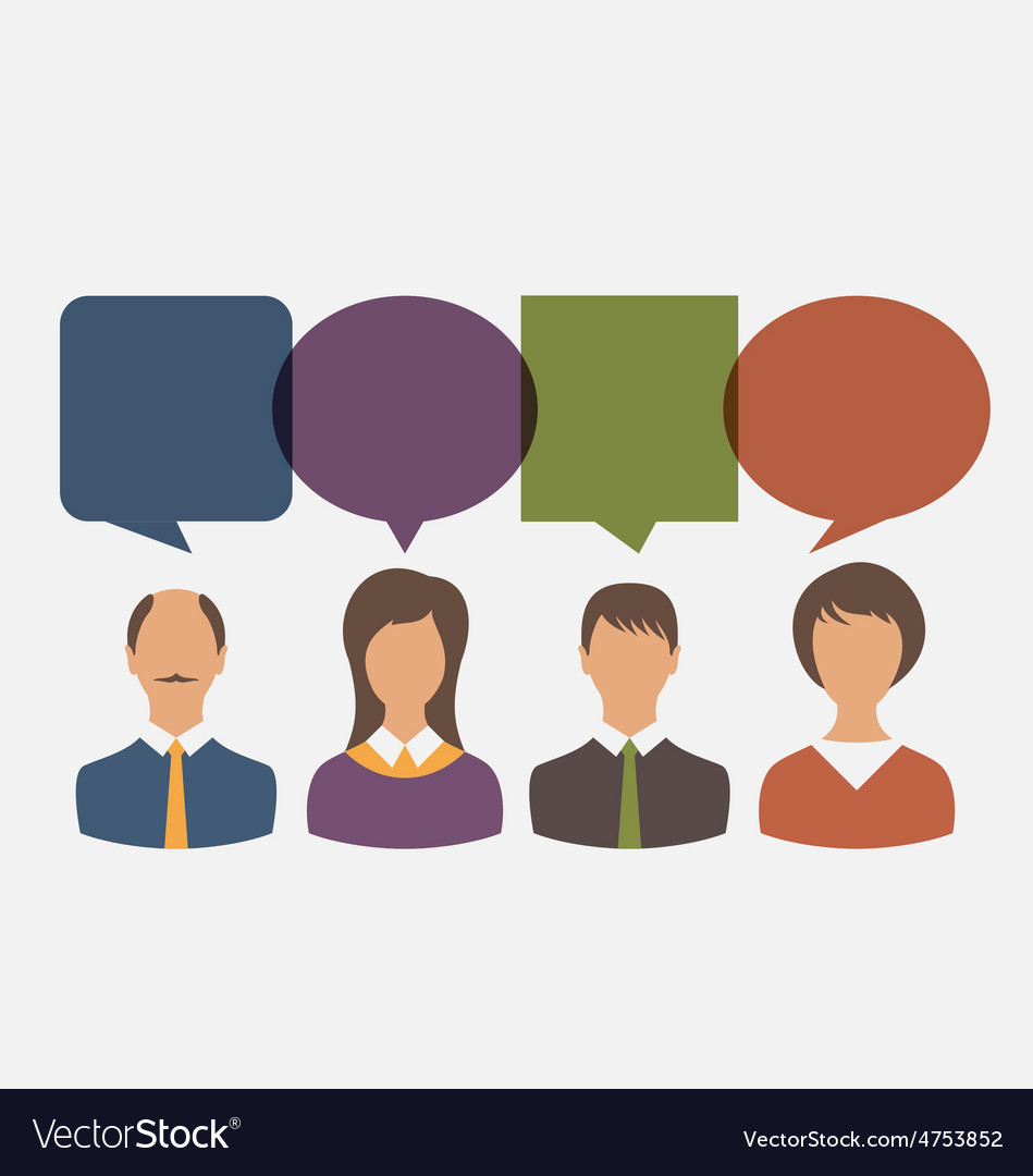 Colorful simple icons of business people vector | Price: 1 Credit (USD $1)