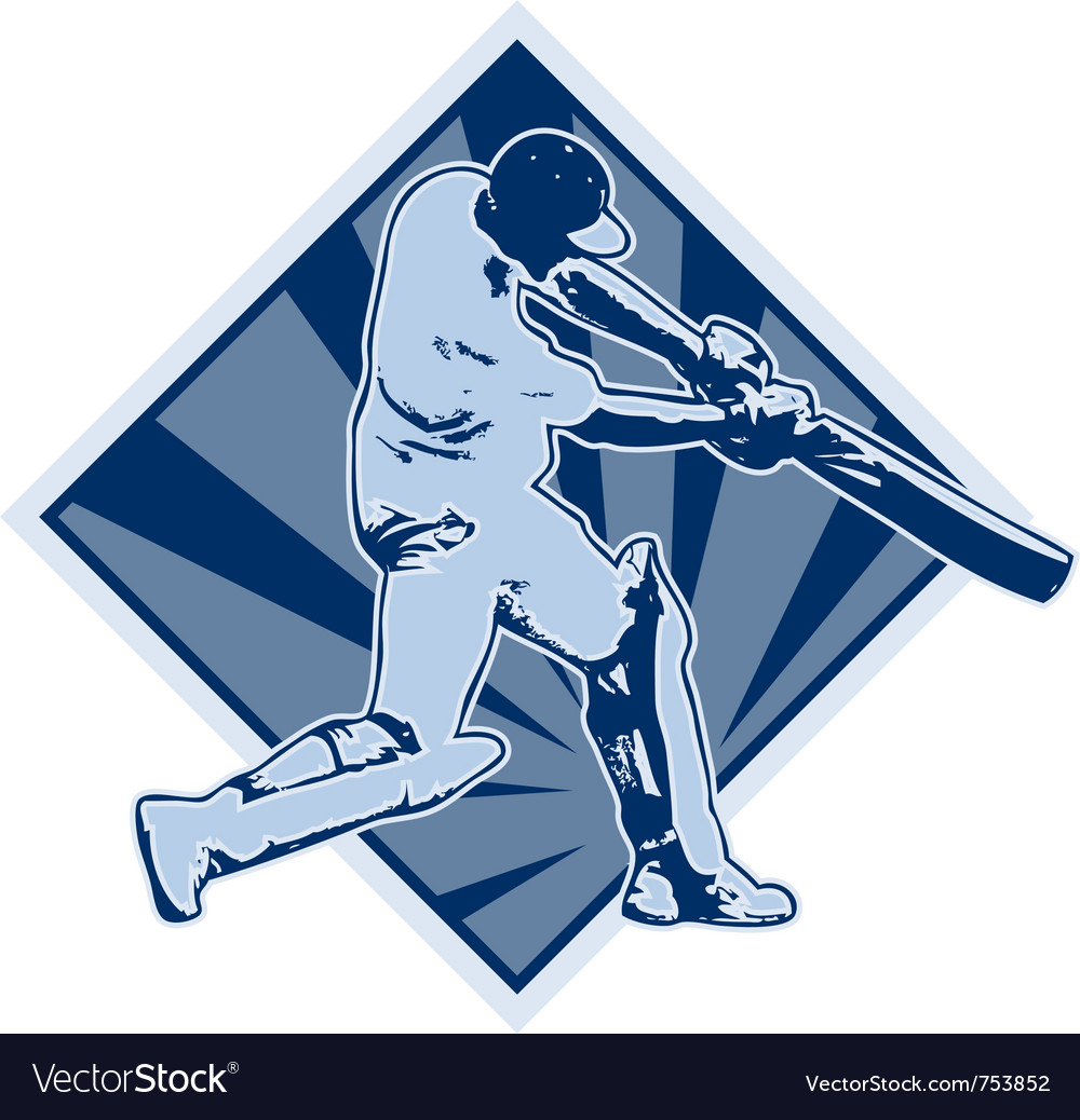 Cricket player batsman batting vector | Price: 1 Credit (USD $1)