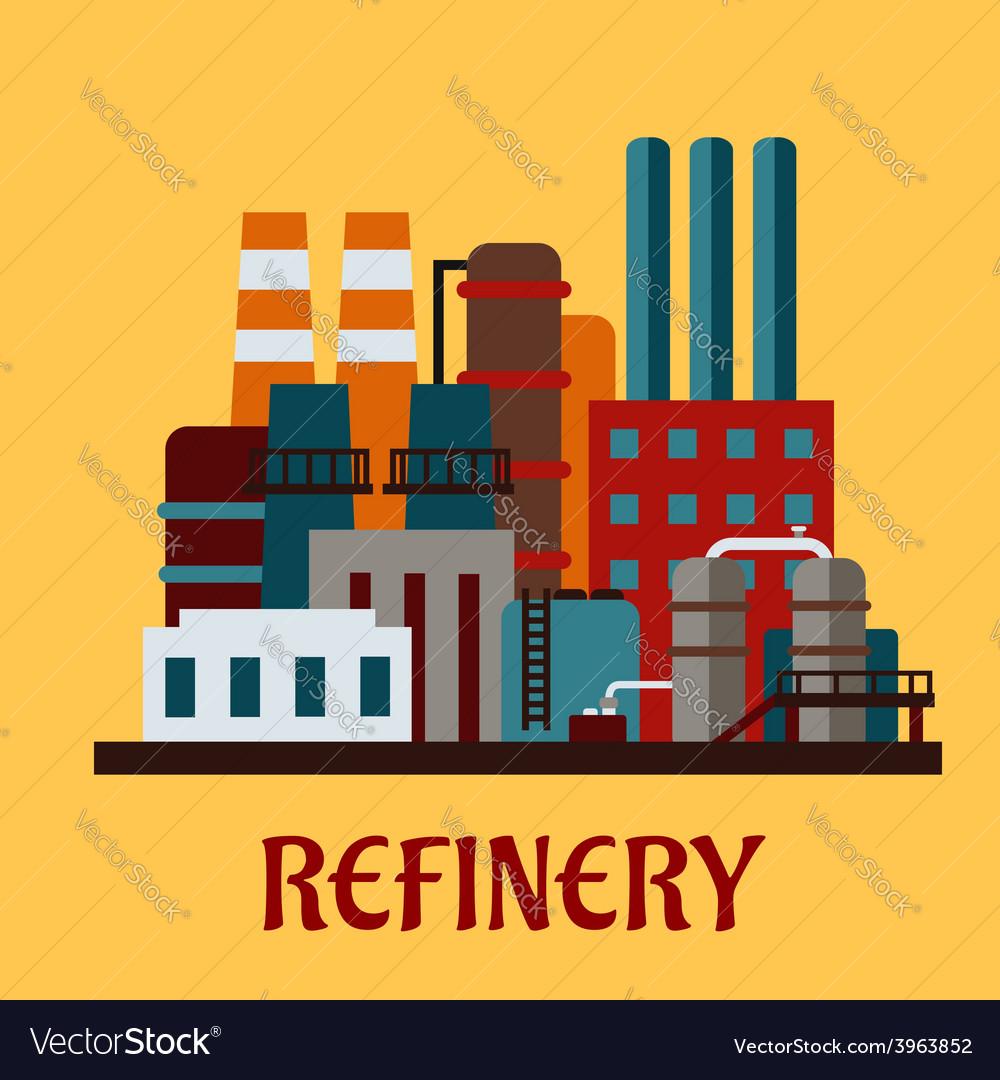 Flat industrial refinery vector | Price: 1 Credit (USD $1)