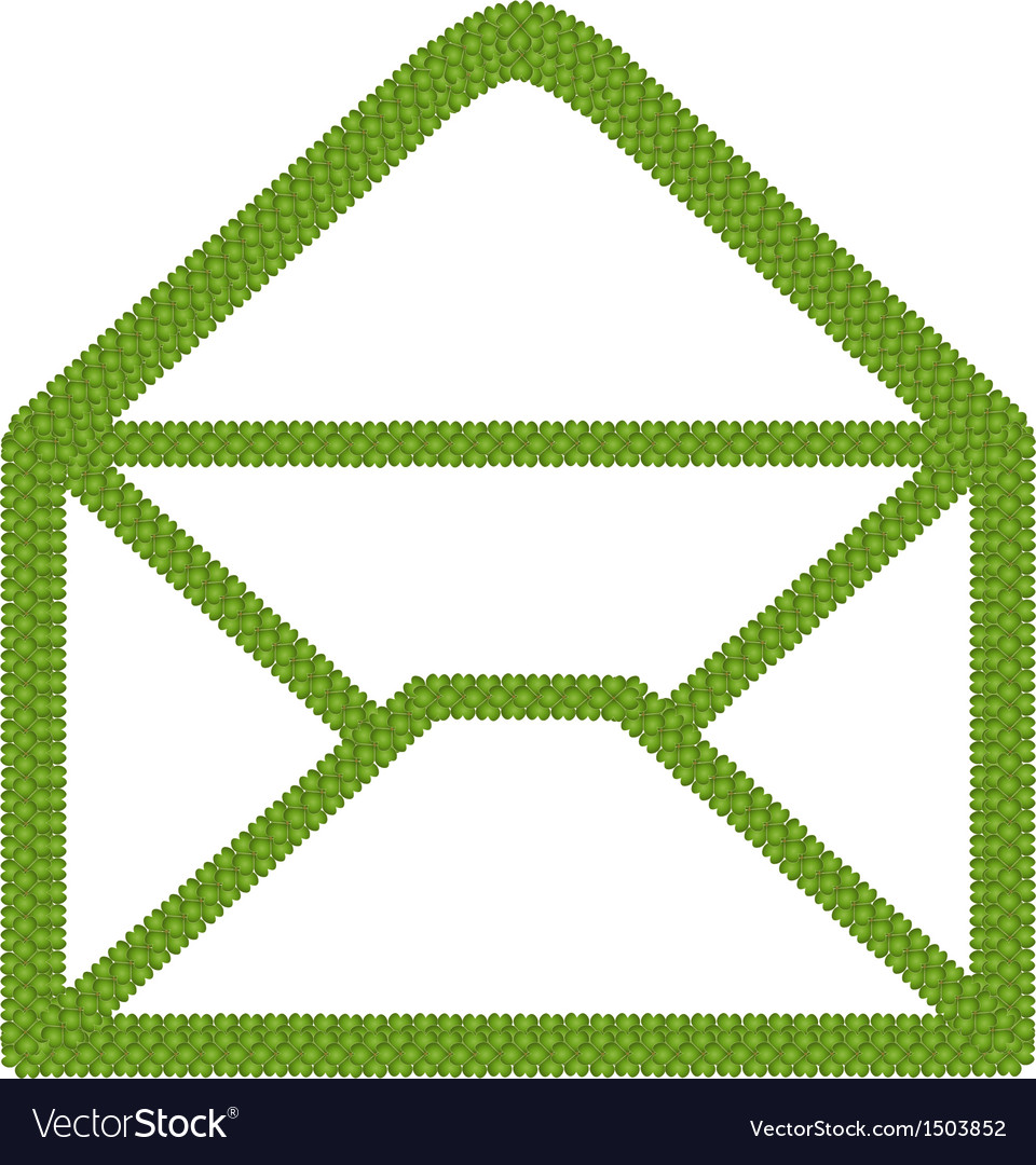 Four leaf clover of open envelope icon vector | Price: 1 Credit (USD $1)