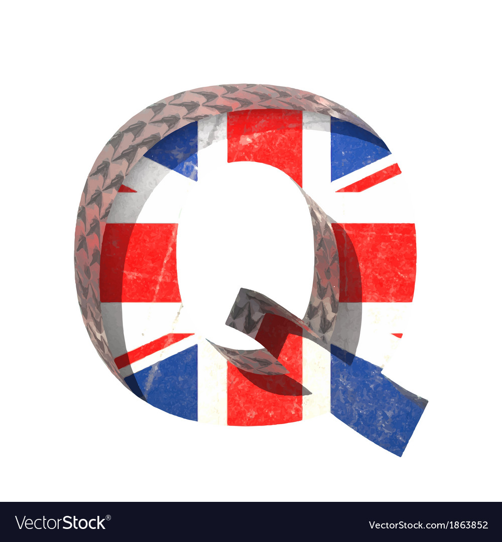 Great britain cutted figure q paste to any vector | Price: 1 Credit (USD $1)