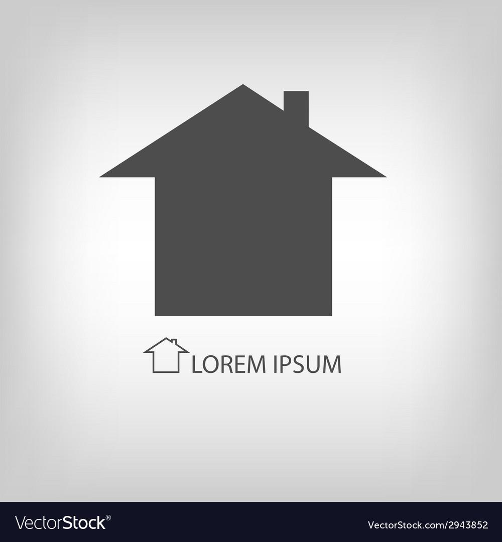Grey house symbol vector