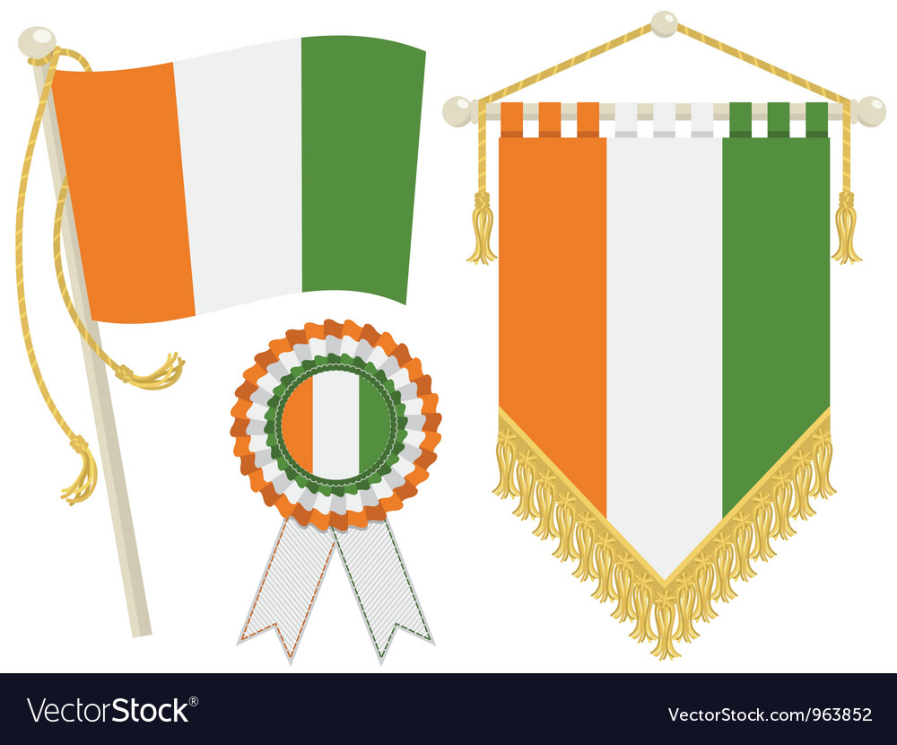 Ivory coast flags vector | Price: 1 Credit (USD $1)