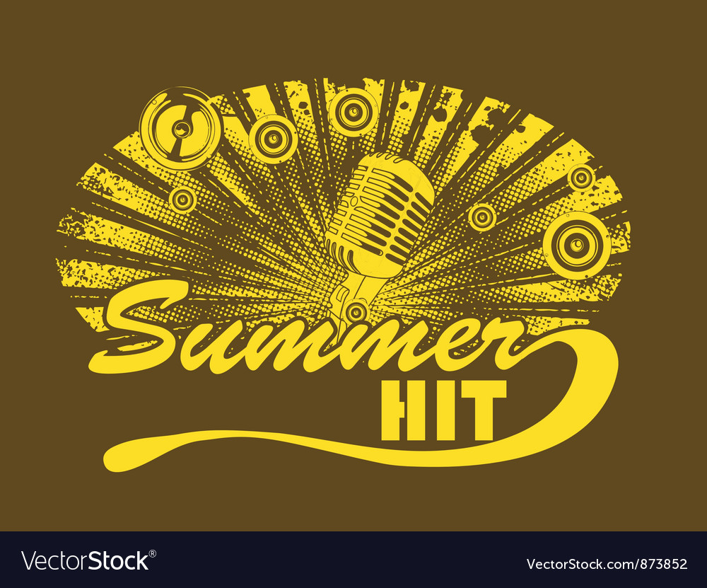 Music t-shirt design with microphone vector | Price: 1 Credit (USD $1)