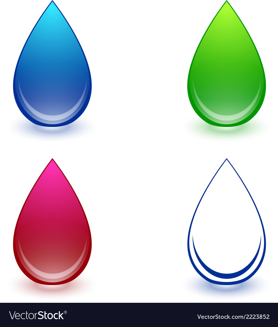 Water drop collection vector | Price: 1 Credit (USD $1)
