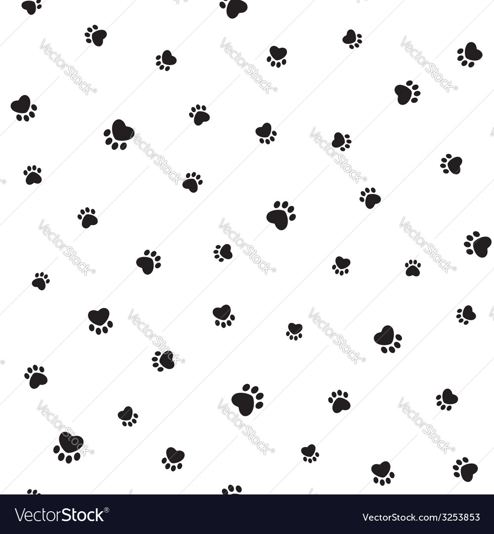 Animal footprints seamless background vector | Price: 1 Credit (USD $1)