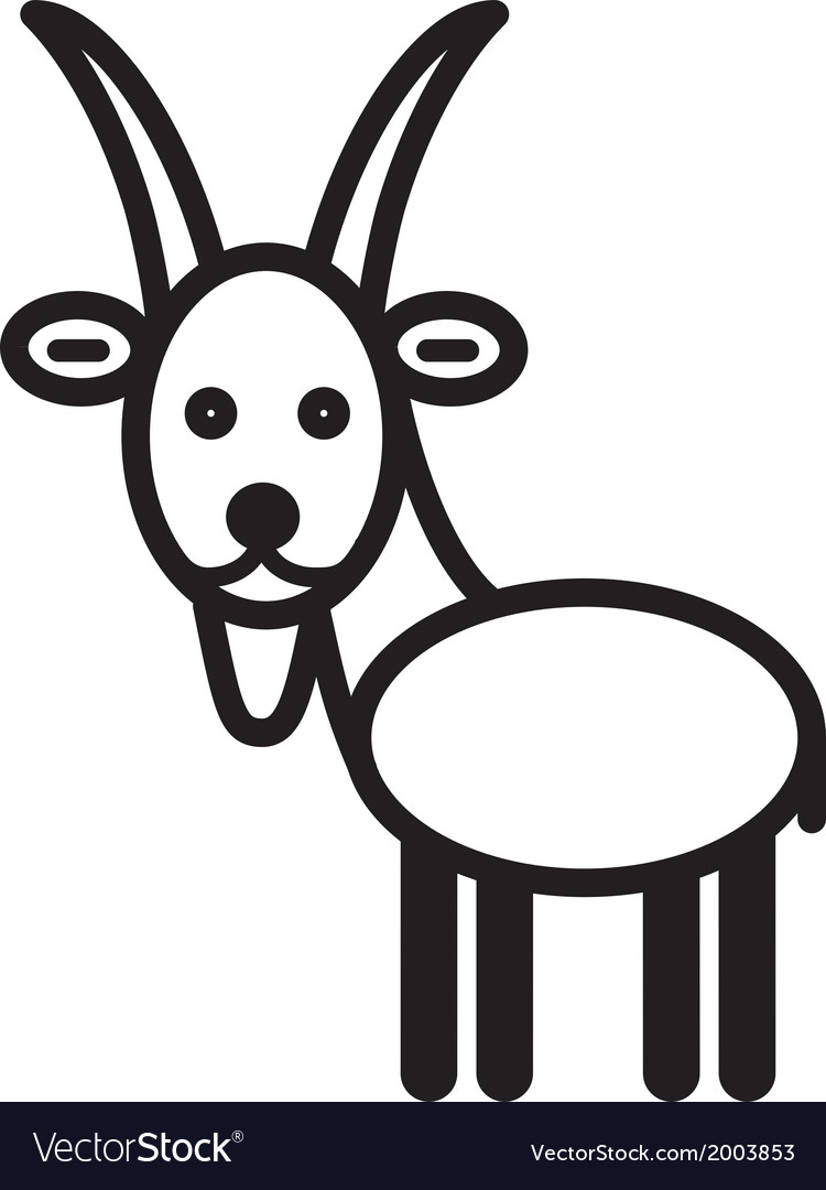Cute animal goat - vector | Price: 1 Credit (USD $1)
