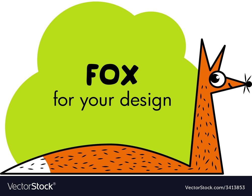 Cute cartoon fox vector | Price: 1 Credit (USD $1)