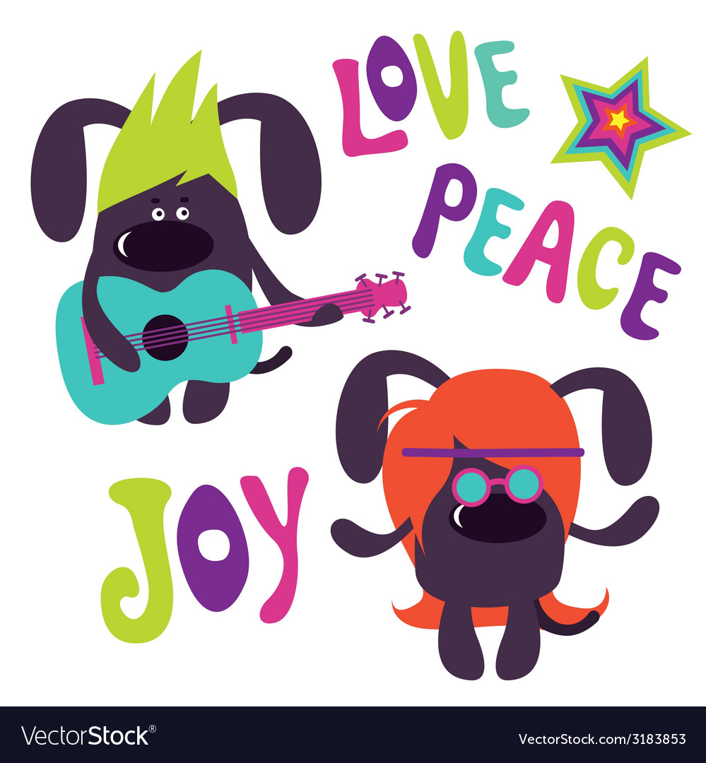 Cute dogs couple vector | Price: 1 Credit (USD $1)