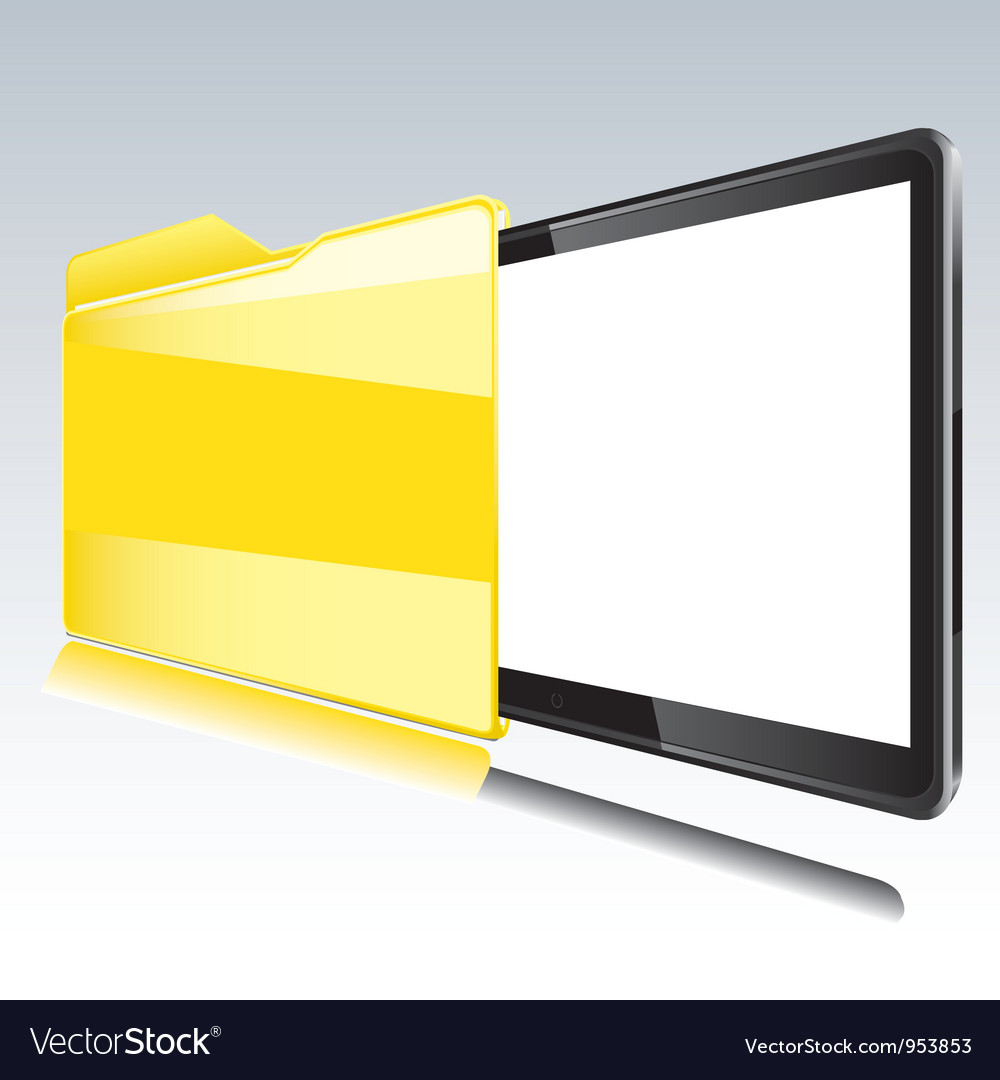 Folder with abstract monitor vector | Price: 1 Credit (USD $1)