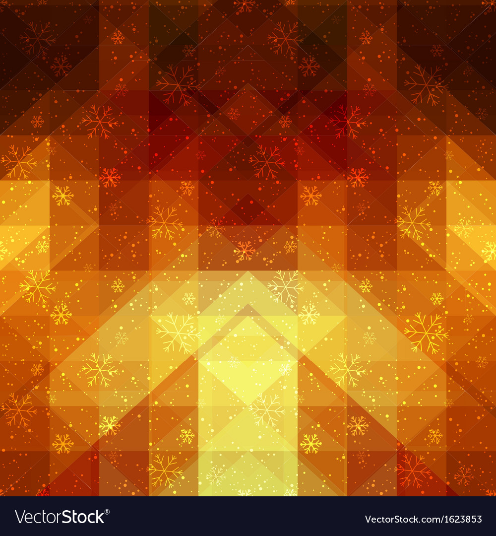Gold winter background with triangle texture vector | Price: 1 Credit (USD $1)