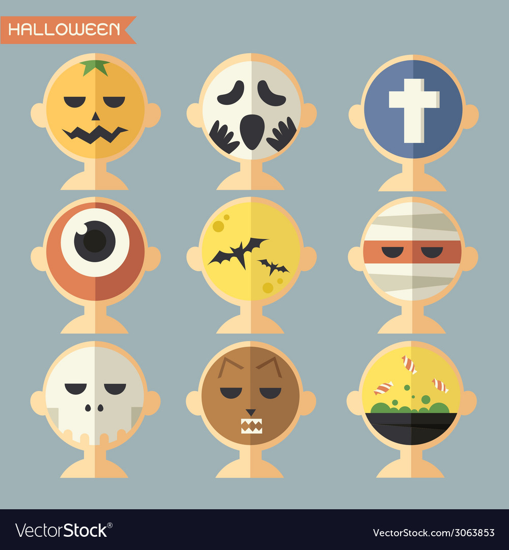 Haloween face vector | Price: 1 Credit (USD $1)