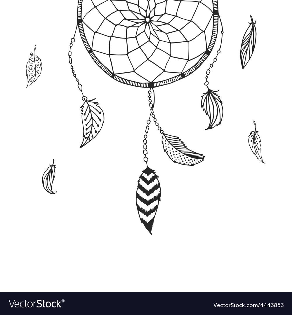 Hand drawn dreamcatcher vector | Price: 1 Credit (USD $1)