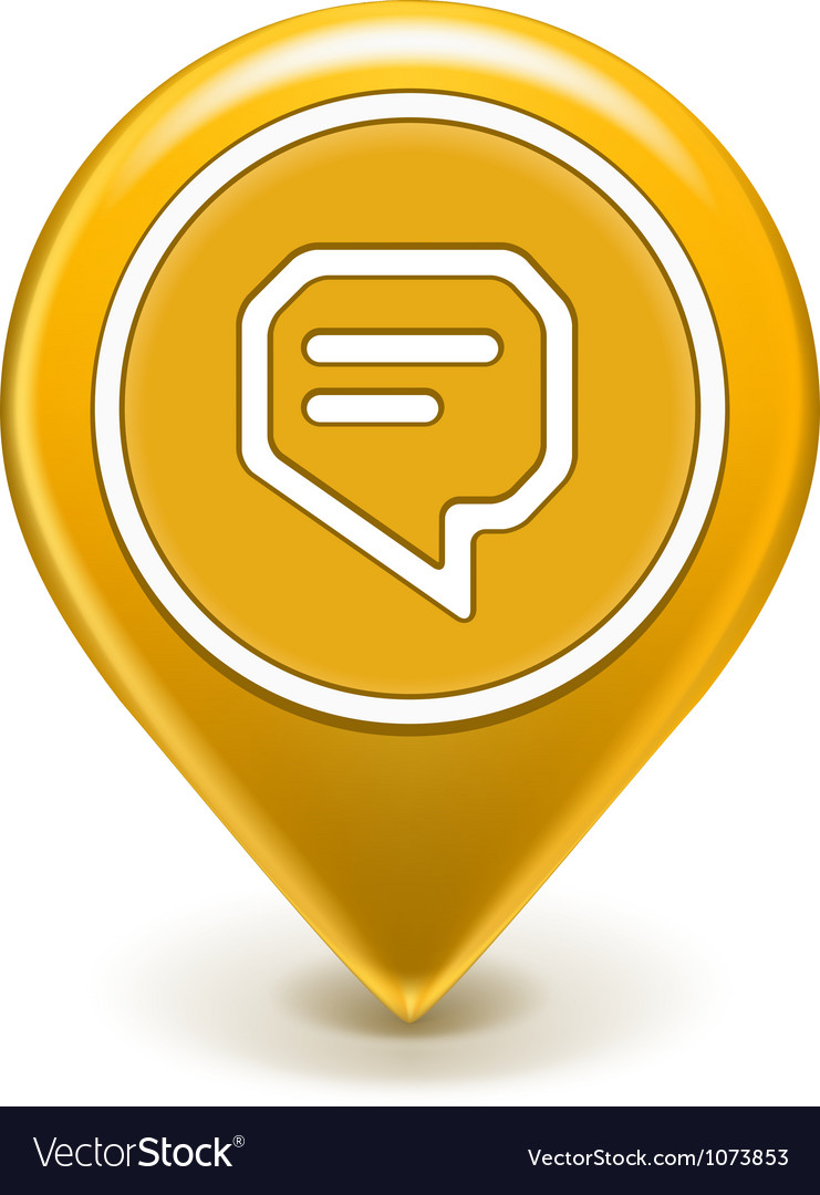 Message icon map pin vector | Price: 1 Credit (USD $1)