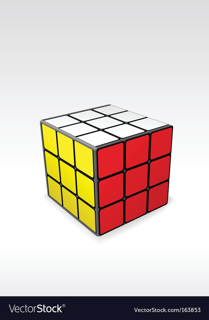 Rubics cube vector