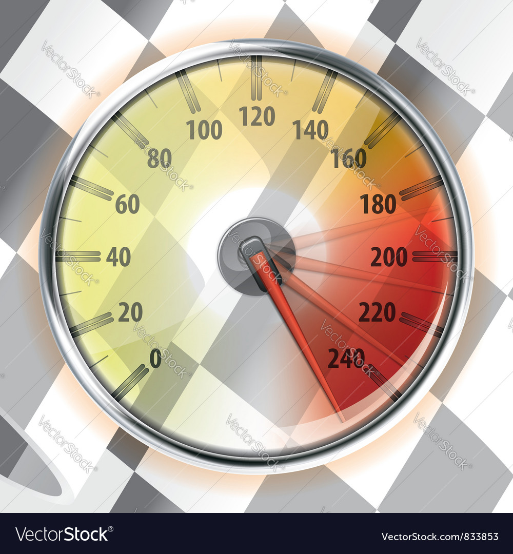 Speedometer with flag vector | Price: 1 Credit (USD $1)