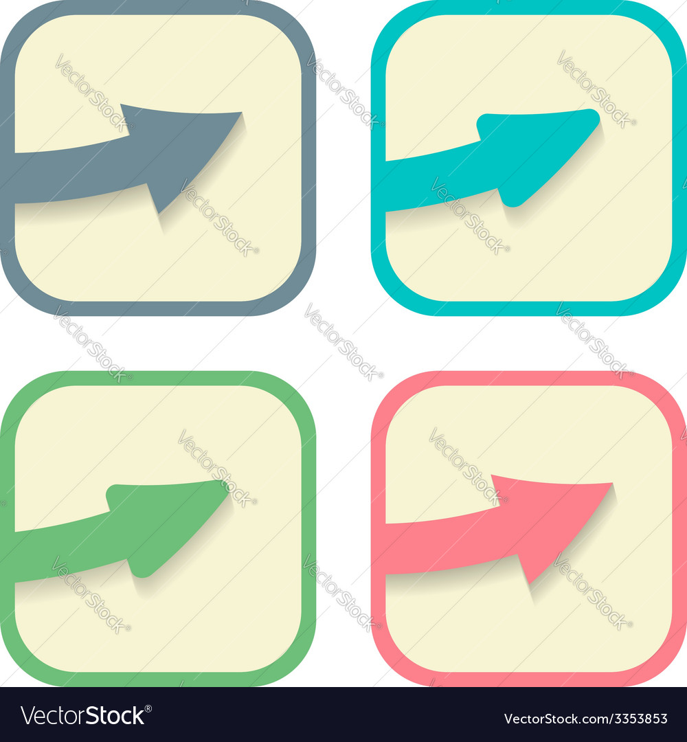 Stickers with arrows set vector | Price: 1 Credit (USD $1)