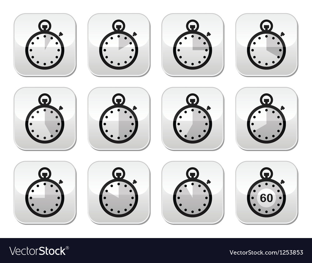 Time clock stopwatch buttons set vector   Price: 1 Credit (USD $1)