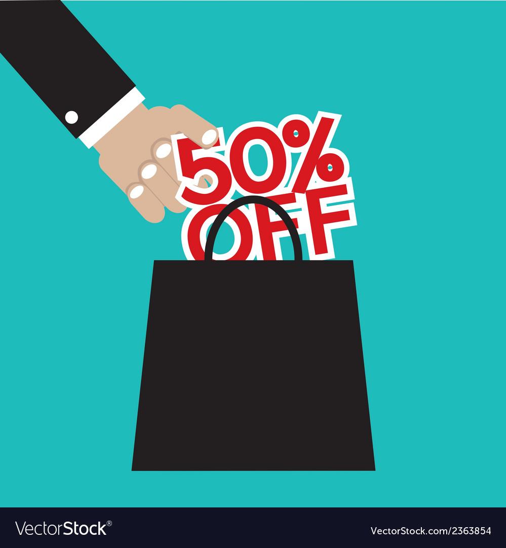 50 percent off vector | Price: 1 Credit (USD $1)