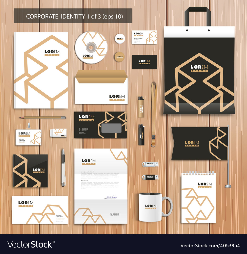Artistic corporate identity template with vector | Price: 3 Credit (USD $3)