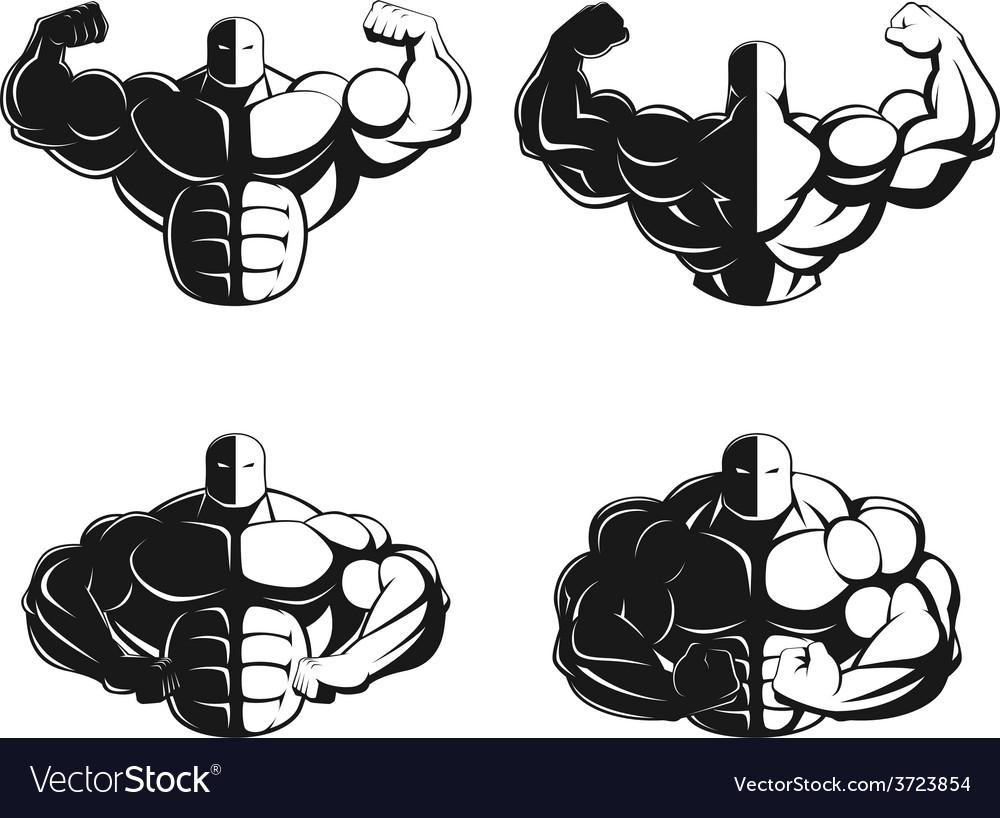 Bodybuilder posing vector | Price: 1 Credit (USD $1)