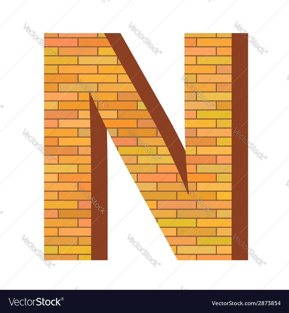 Brick letter n vector | Price: 1 Credit (USD $1)