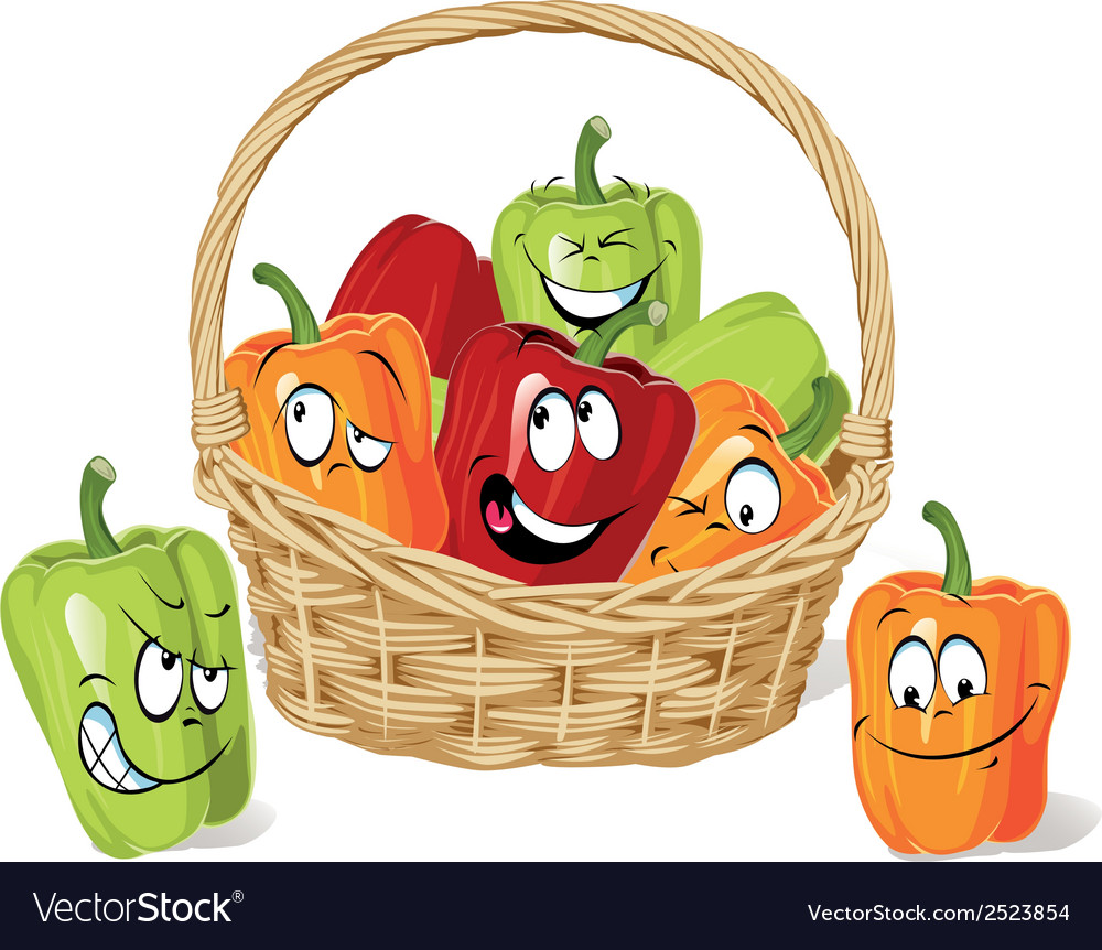 Colored paprika cartoon vector | Price: 1 Credit (USD $1)