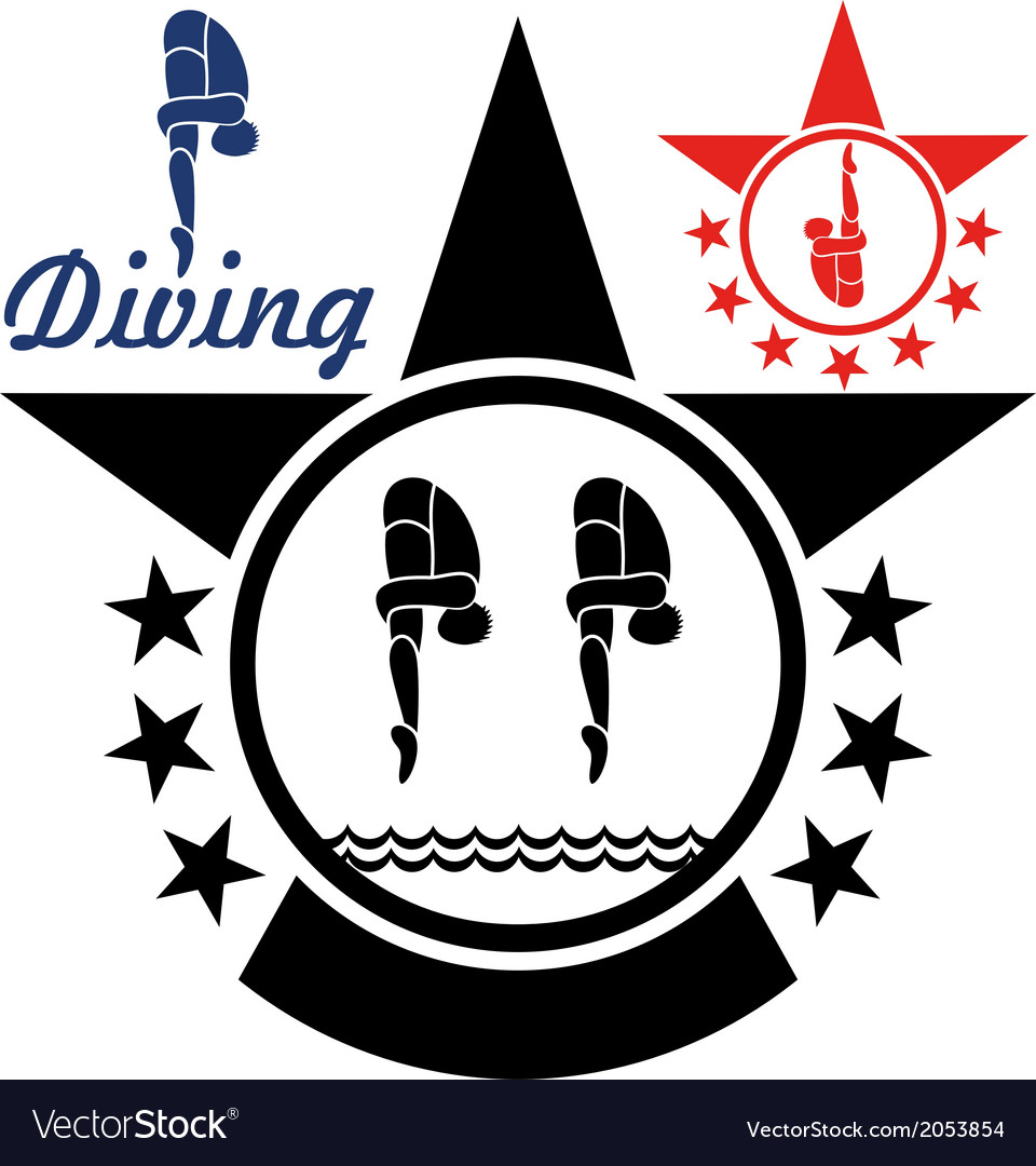 Diving vector | Price: 1 Credit (USD $1)